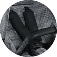 п'ятиточкові ремені безпеки з м'якими плечовими накладками